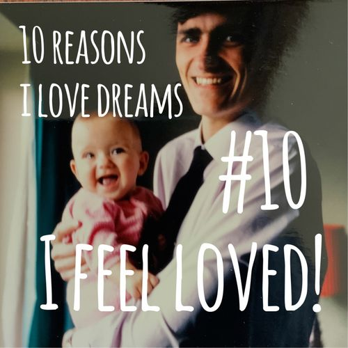 Picture of dad and baby with text: I feel loved!