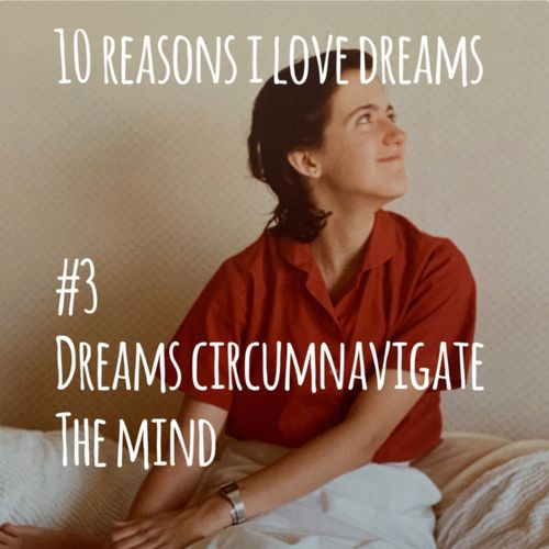 Picture of author as a child with text: dreams circumnavigate the mind