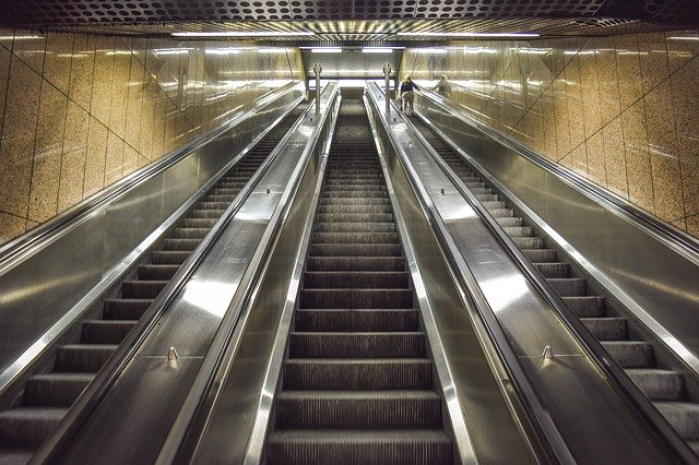 Picture of an escalator