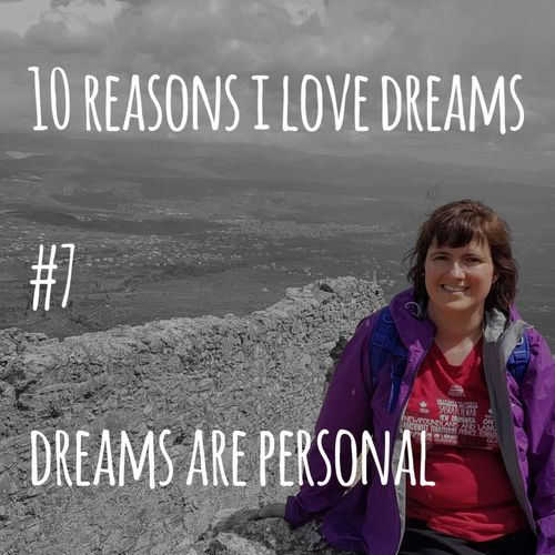 Picture of author with text: dreams are personal