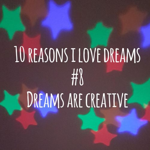 picture of stars with text: dreams are creative