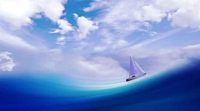 Picture of boat on a stormy sea