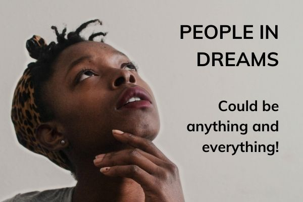 Picture of lady looking up with text - people in dreams - could be anything and everything!