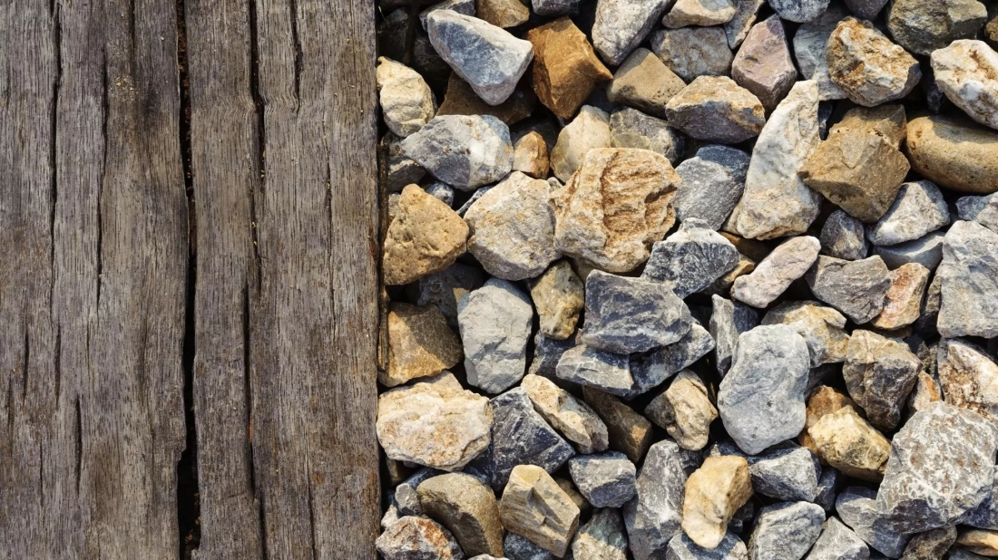 Picture of wood and stones
