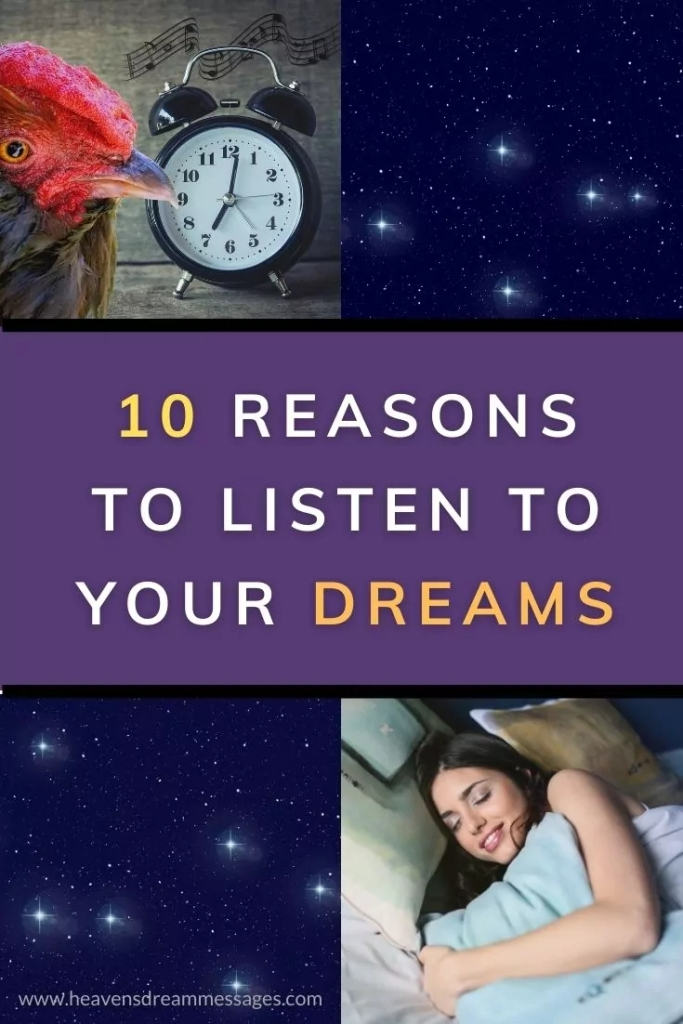 Pictures with text: 10 reasons to listen to your dreams