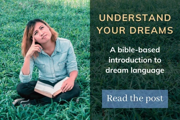 Picture of lady sitting with bible looking up with text: understand your dreams, a bible-based introduction to dream language, read the post